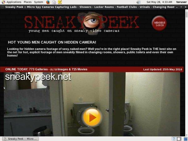 Sneaky Peek Peek