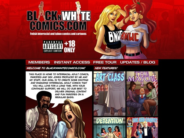 Free Password To Black N White Comics
